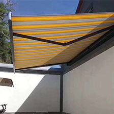 Why do household awnings choose aluminum canopies more than glass canopies